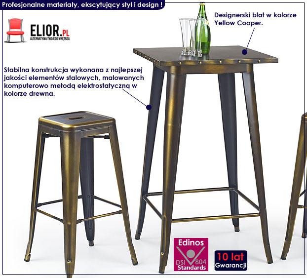 stół barowy industrialny wysoki
