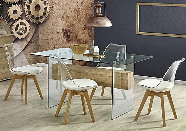 stół bezbarwny ze szkła