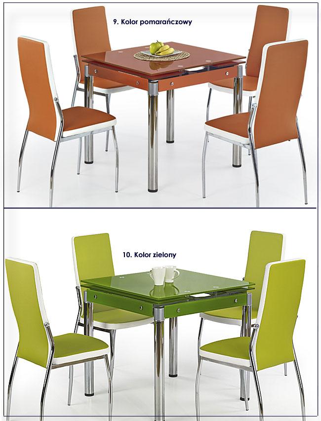 stół do kuchni szklany Cuber