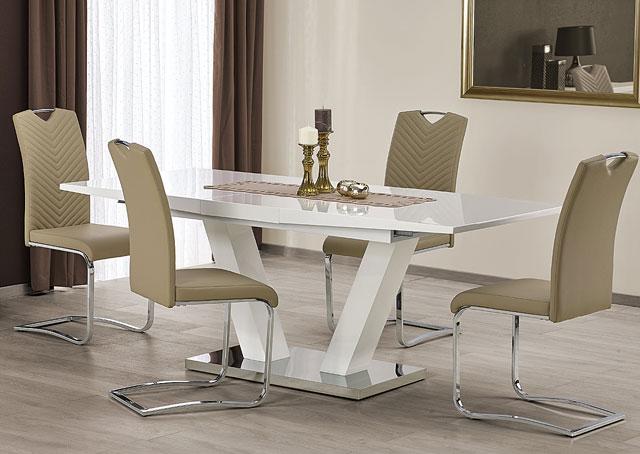 stół diston biały połysk