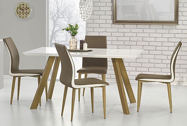 stół do salonu dorin biały połysk