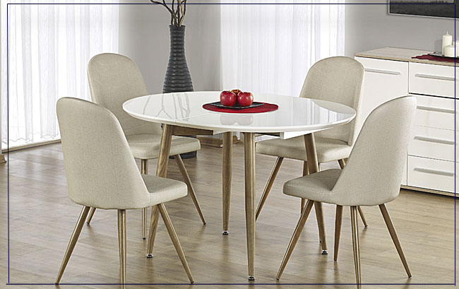 Stół biały połysk Ebis