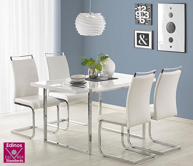 stół lakierowany lenion biały połysk