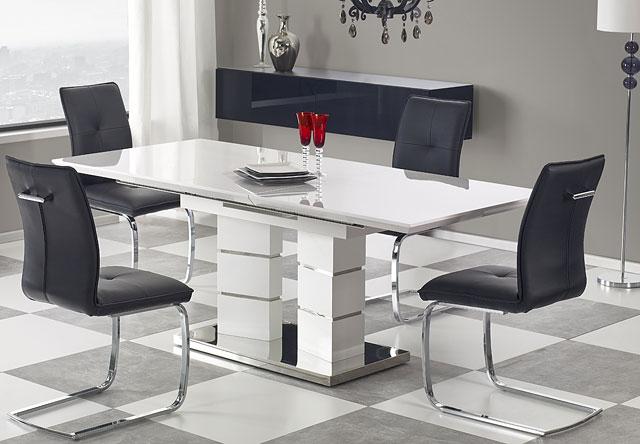 stół biały lakierowany lordis