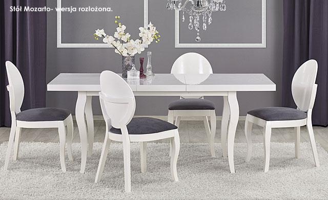 stół mozarto biały prowansalski