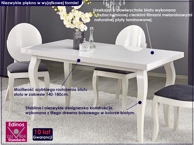 stół prowansalski biały