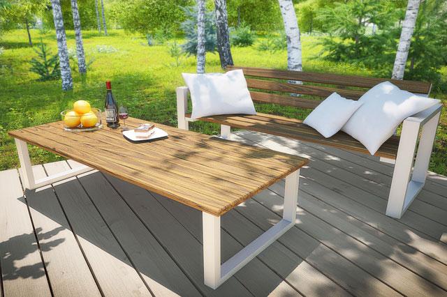 stół ogrodowy drewniany norin