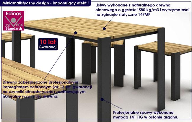 stół ogrodowy redis