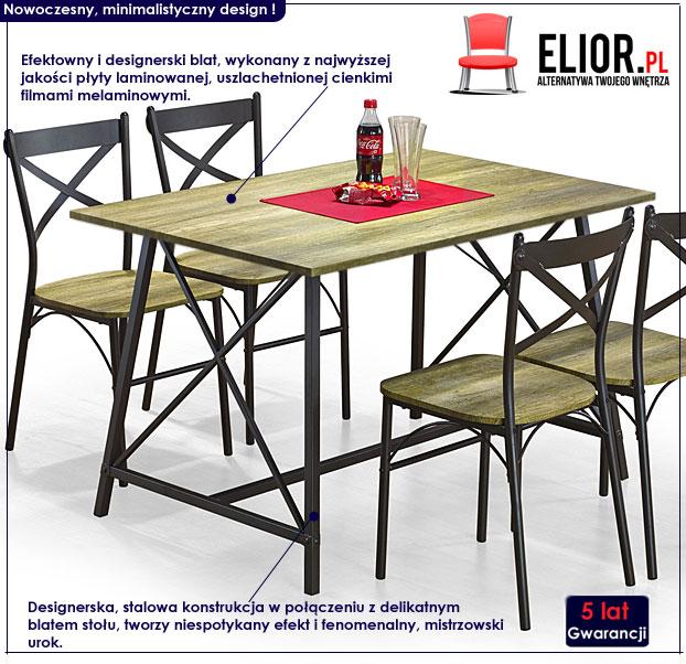 Stół + krzesła Rexer