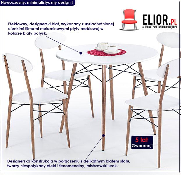 Zestaw kuchenny stół i krzesła Rexin