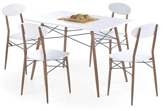 stół z krzesłami Rexin 3X