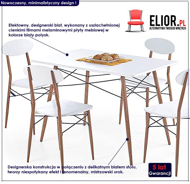 zestaw kuchenny stół i krzesła Rexin 3X