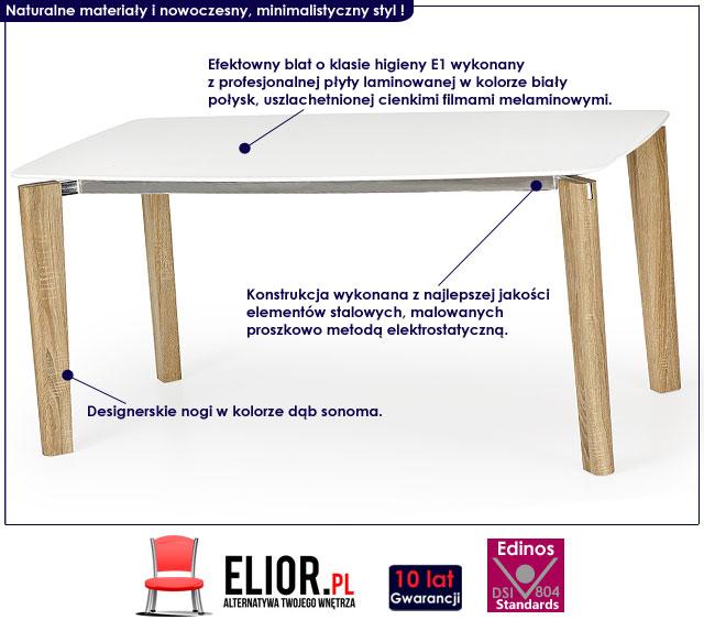 stół webis biały dąb sonoma