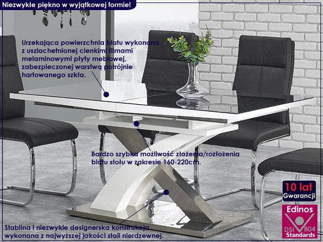 stół Zander czarny połysk