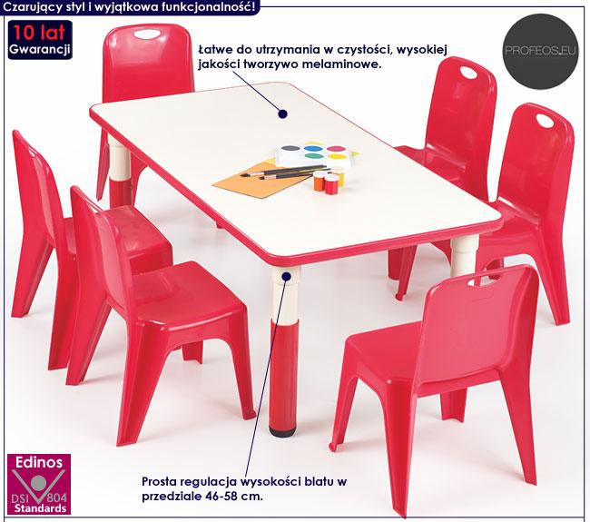 Regulowany stolik dla dzieci czerwony Hipper 2X