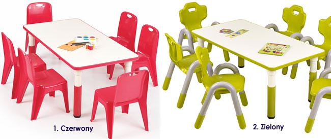 Prostokątny stolik regulowany do pokoju dziecka Hipper 2X