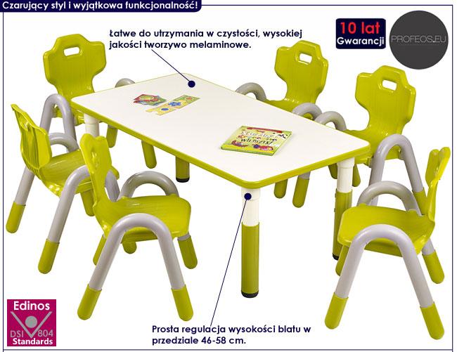 Zielony stolik dla dziecka z regulacją wysokości Hipper 2X
