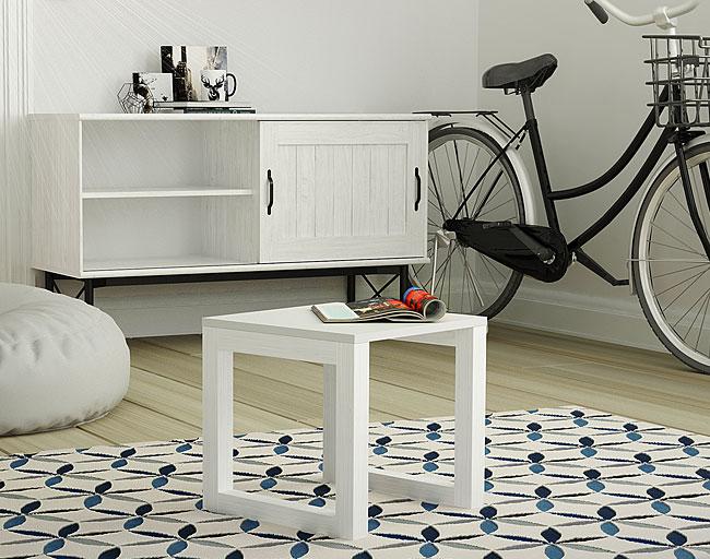 stolik biały drewniany