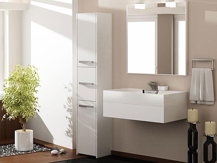 Biały regał łazienkowy z 6 półkami Helta 2X