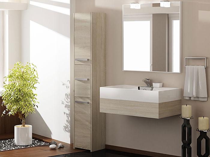 Szafka łazienkowa z 3 drzwiczkami dąb sonoma Helta 2X
