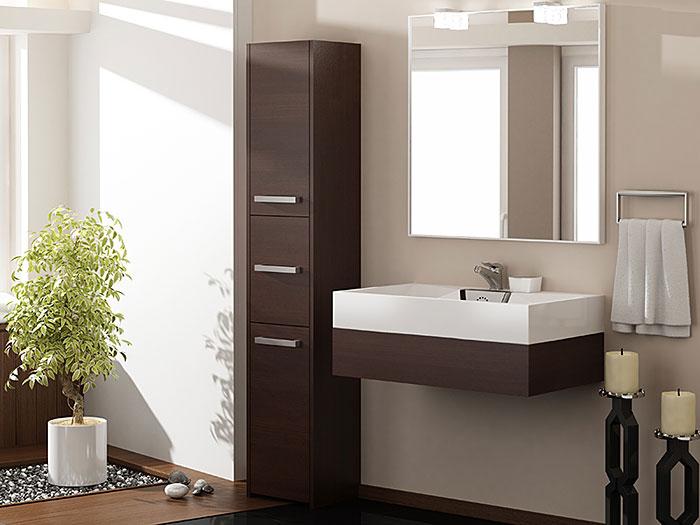 Szafka do łazienki z 6 półkami wenge Helta 2X