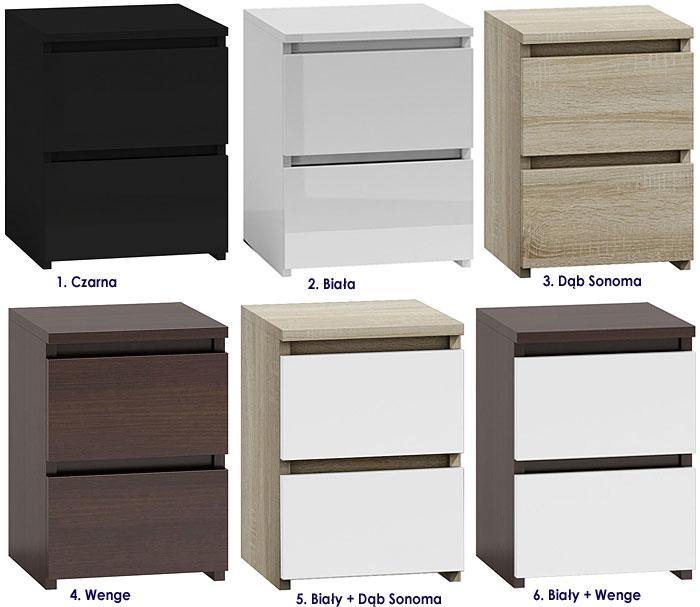 Nowoczesna szafka nocna z szufladami Siena 2X