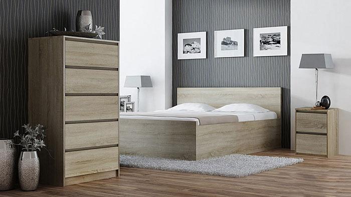 Nocny stolik do sypialni dąb sonoma Siena 3X
