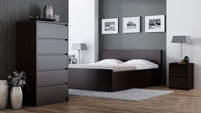 Nocny stolik do sypialni wenge Siena 3X