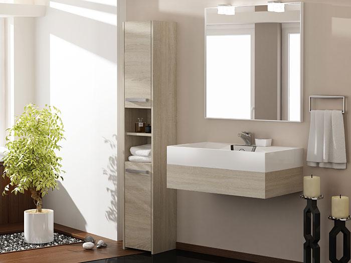 Szafka do łazienki z 2 drzwiczkami dąb sonoma Tosca 2X