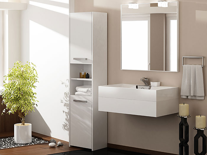 Biała szafka do łazienki Tosca 3X