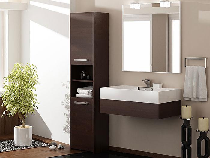 Szafka łazienkowa z 2 drzwiczkami wenge Tosca 3X