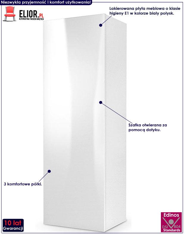 Lakierowana biała szafka wisząca Vomes 8X
