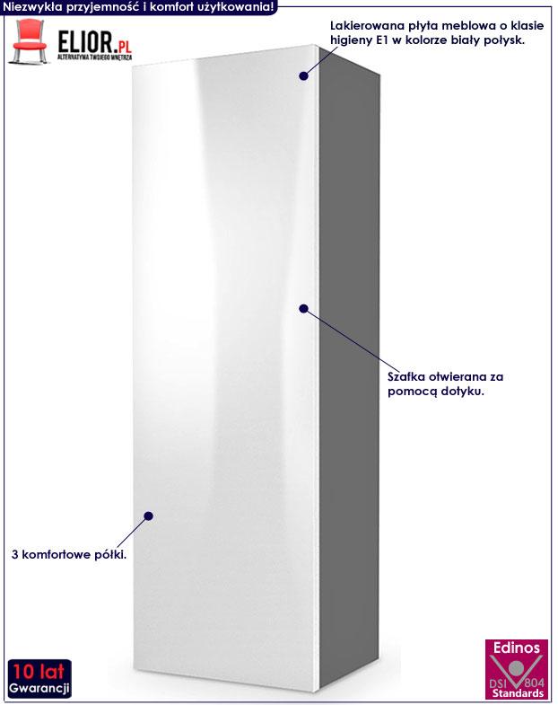 Lakierowana szafka wisząca biała, szara Vomes 8X