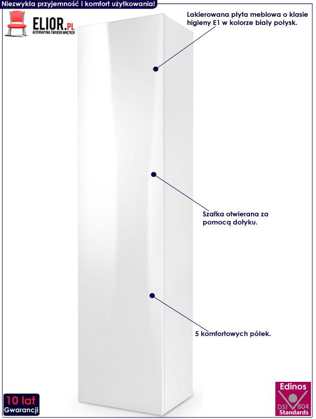 Biała szafka wisząca z półkami Vomes 9X