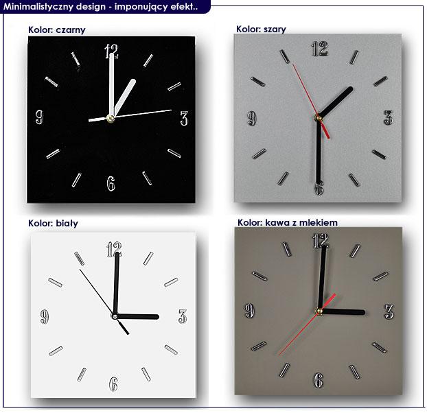 zegar szklany na ścianę