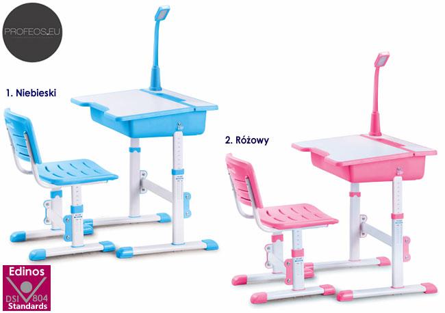 biurko, krzesełko i lampka Fango