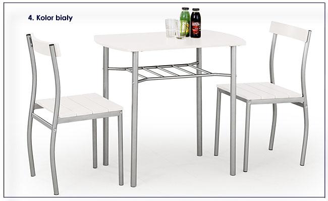 Biały stół i krzesła Twiner